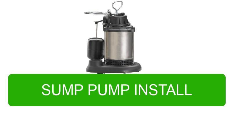 Sump pump install Portland and Vancouver
